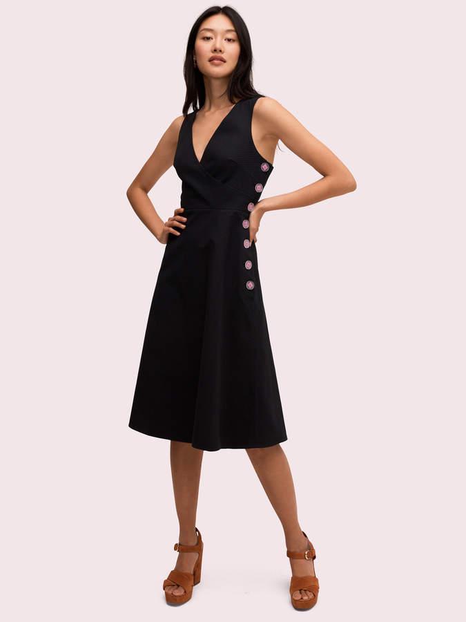 Kate Spade scallop jacquard midi dress