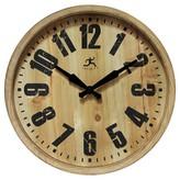 Infinity Instruments Barrel Decorative Clock - Wood Grain