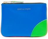 Comme des Garcons Colour-block Leather Coin Purse - Mens - Blue Multi