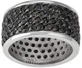 Journee Collection Sterling Silver Black Cubic Zirconia Eternity Wedding Ring