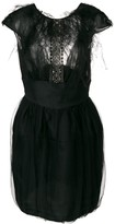 Valentino Pre Owned textured bodice dress