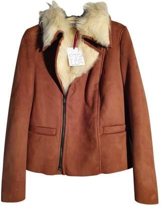 Stella Jean Camel Faux fur Leather jackets