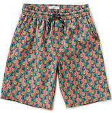Class Club Big Boys 8-20 Pineapple Print Swim Trunks