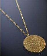 Kevia gold 'Renaissance' brocade disc pendant necklace