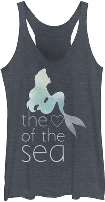 Licensed Character Juniors' Disney's Little Mermaid Heart Of The Sea Watercolor Tank Top