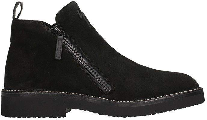 Giuseppe Zanotti Black Suede Ankle Boots