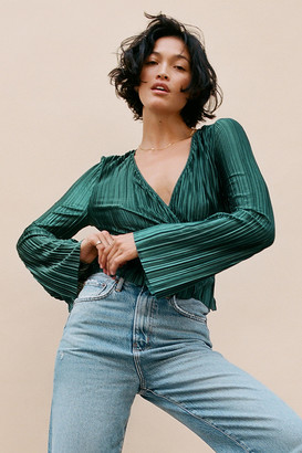 Urban Outfitters Cartia Plisse Surplice Top