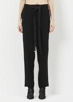Marni black satin low rise pant