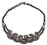 Ranjana Khan Pearl, Crystal & Leather Collar Necklace