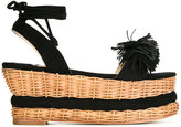 Paloma Barceló platform sandals - women - Leather/Suede/salix willow bark extract (alba) - 35