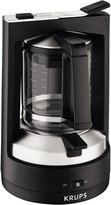 Krups Moka Brewer Filter Coffee Maker - Black - KM4689
