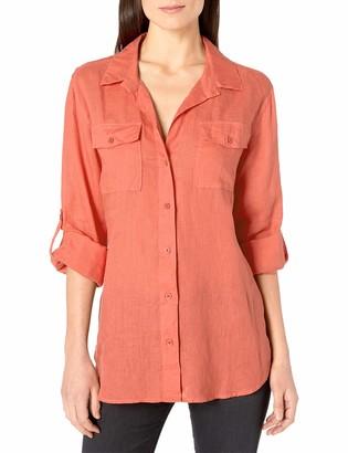 Margaritaville Women's Long Sleeve Easy Linen Shirt