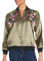 Saks Fifth Avenue RED Embroidered Long Sleeve Jacket
