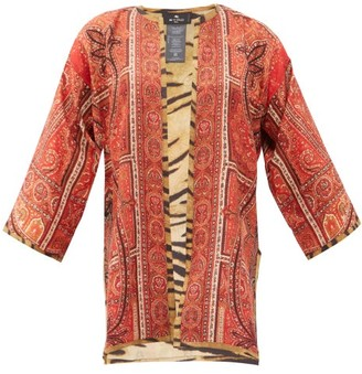 Etro Paisley-print Silk-twill Jacket - Red
