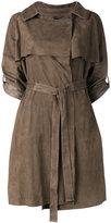 Giorgio Brato cropped sleeve belt coat