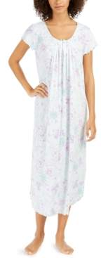 Miss Elaine Women's Floral-Print Long Nightgown