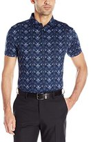 J. Lindeberg Men's Egon Sli Fit Printed Lux Jersey Golf Polo Shirt