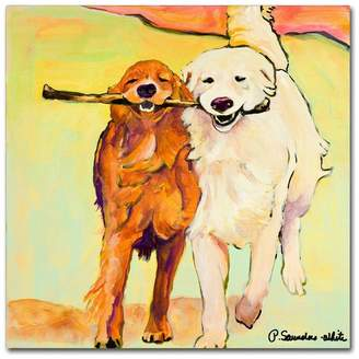 with me. Trademark Fine Art 'Stick with Me' Canvas Art by Pat Saunders-White