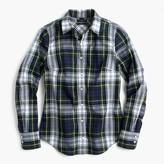 J.Crew Perfect shirt in navy Stewart plaid