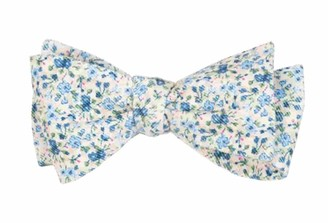 Tie Bar Corduroy Freesia Floral Light Champagne Bow Tie