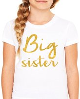 Queen Apparel- Big Sister shirt-soft 100% cotton girls fitted shirt