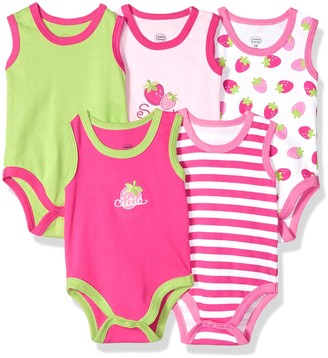 Luvable Friends Baby Infant 5-Pack Lightweight Sleeveless Bodysuits