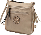 BEIGE Mkf Collection By Mia K. MKF Collection by Mia K. Women's Handbags Expandable Tassel-Accent Crossbody Bag