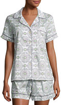 BedHead Medallion-Print Shorty Pajama Set, Grey/Multi