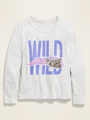 Old Navy Graphic Long-Sleeve Tee for Girls