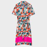 Paul Smith Women's Red 'Photo-Floral' Print Shirt-Dress