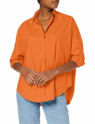 French Connection Women's Rhodes Shirt Orange (Jaffa 82) 8 (Size:-XS-)