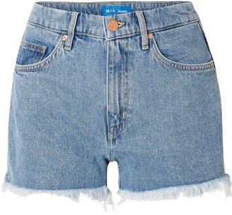 MiH Jeans Frayed Denim Shorts