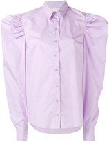 Marques Almeida Marques'almeida - wide-shoulder shirt - women - Cotton - M