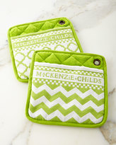 Mackenzie Childs MacKenzie-Childs Key Lime Pot Holders, Set of 2