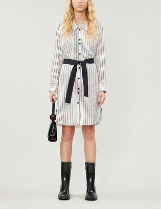 Maje Rayona striped woven dress