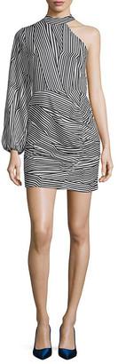Lea & Viola Stripe Choker Dress