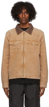 Stussy Tan Canvas Washed Work Shirt Jacket