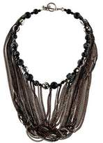 Jean Paul Gaultier Dyed Agate, Glass & Resin Bead Multistrand Necklace