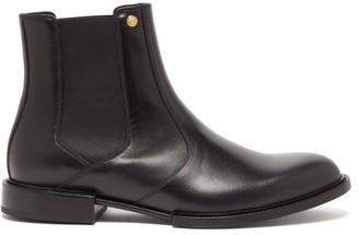 Versace Medusa-plaque Leather Chelsea Boots - Mens - Black Gold