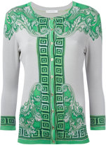 Versace neon print buttoned cardigan - women - Silk/Spandex/Elastane - 42