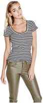 G by Guess GByGUESS Women's Sofiya Snap-Front Henley