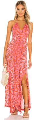 Poupette St Barth Ollie Flounce Maxi Dress