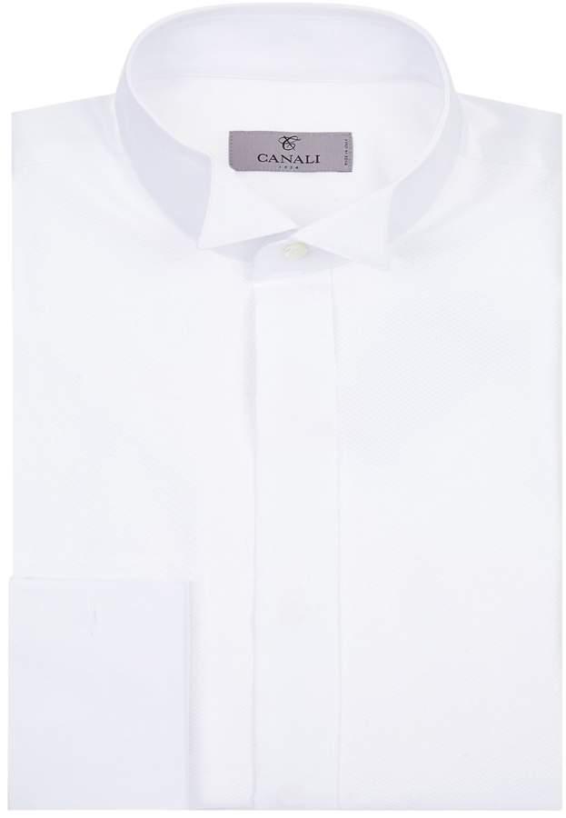 Canali Cotton Wing Collar Shirt