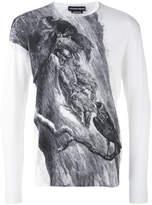 Alexander McQueen illustrated blackbird sweater