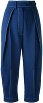 Sportmax pleat front trousers - women - Cotton/Linen/Flax/Viscose - 40