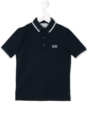 Boss Kids Embroidered Logo Polo Shirt