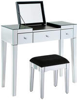 Out There Interiors Modish Mirrored Dressing Table Set