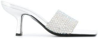 BY FAR Crystal Embellished Mules