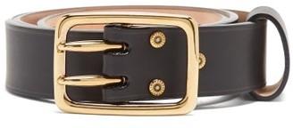 Chloé Double-prong Buckle Leather Belt - Black