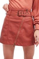 Free People Women's Feelin' Fresh Faux Leather Moto Skirt